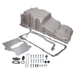 TSP 81075 Retro-Fit LSX Aluminum Rear Sump Oil Pan W/Added Clearance, Aluminum, Natural