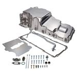 TSP 81075P Retro-Fit LSX Aluminum Rear Sump Oil Pan W/Added Clearance, Aluminum, Polished