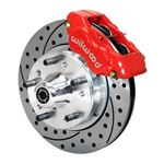 Willwood 140-11007-DR 1970-1981 A/B/F/X Bodies 11 Inch Front Dynalite Pro Brake Kit, Red