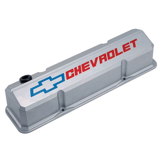 141-923 Valve Covers Slant Edge Tall Die Cast Gray