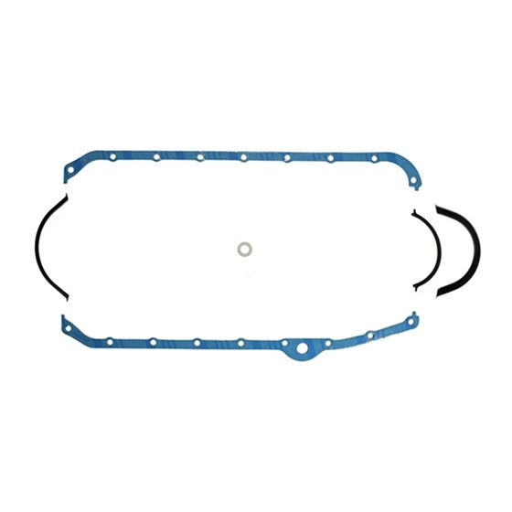 1821 1955-1979 Small Block Chevy Oil Pan Gasket, Trimmed for stroker, Left Hand Dipstick