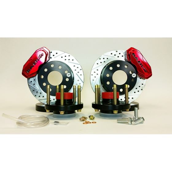 Baer Brake Systems 4261372FR Brake System 11 Inch Front SS4+ Deep Stage Drag Race Fire Red 65-73 For