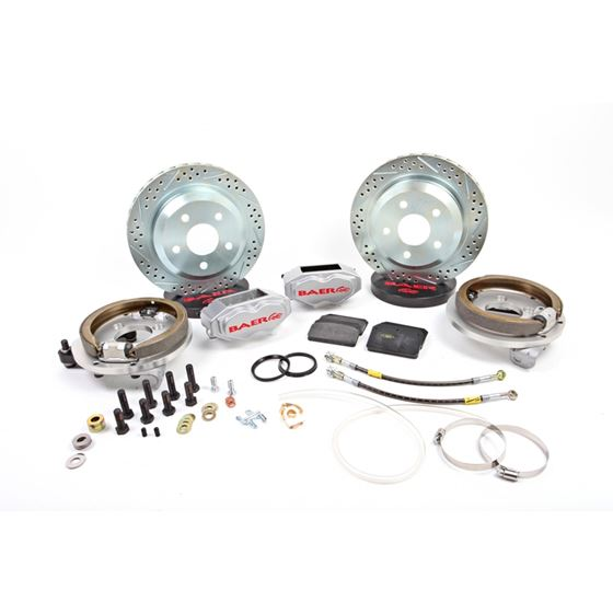 Baer Brake Systems 4262243S Brake System 12 Inch Rear SS4 with Park Brake Silver 67-73 Mustang 8 or