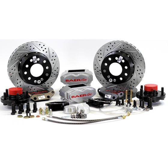 Baer Brake Systems 4301441S Brake System 11 Inch Front SS4+ Silver 55-57 Chevy/Heidts Passenger Car