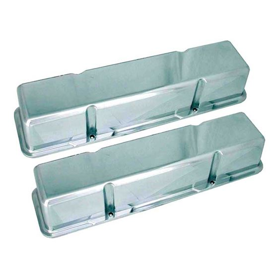 70030 3 11/16 in. Tall Polished Valve Covers, Smal