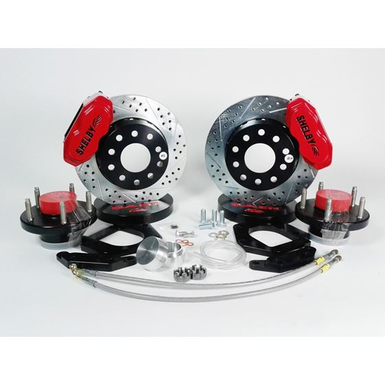 Brake System 11 Inch Front SS4+ Shelby Logo Red 71