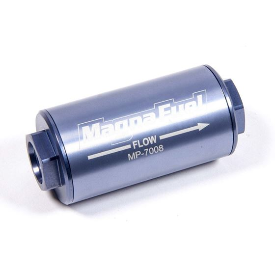 MagnaFuel MP-7008 25 Micron, -10AN In-Line Filter, Stainless Element, Each