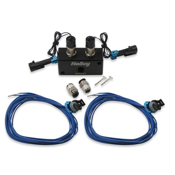 Holley 557-201 Dual Port Boost Control Solenoid Kit, Holley Dominator/HP EFI, Each