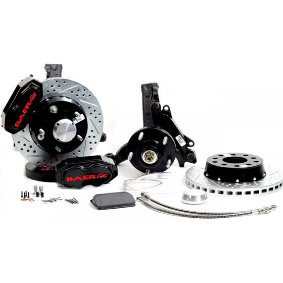 Brake System 11 Inch Front SS4+ Black 73-77 GM A B