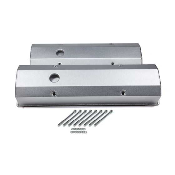 4035000 Small Block Chevy Std Bolt Pattern With Vent Hole, Tall, Satin Silver Anodized