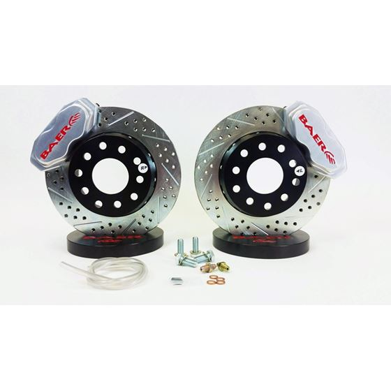 Baer Brake Systems 4301455C Brake System 11 Inch Front SS4+ Deep Stage Drag Race Clear 10-14 Camaro