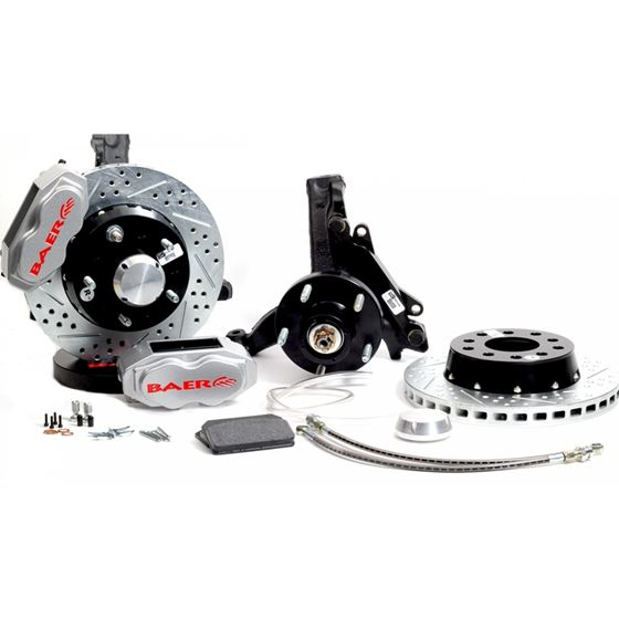 Brake System 11 Inch Front SS4+ Silver 73-77 GM A