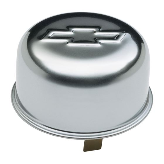 Chevrolet Performance Parts 141-617 Engine Oil Breather Cap Push-On Style 1.82 Hole Embossed Bowtie