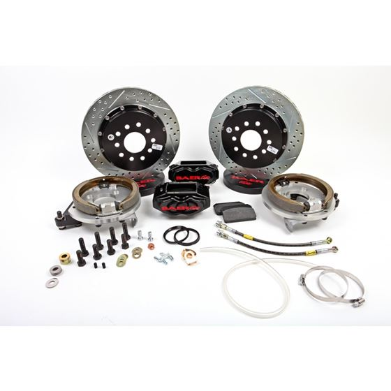 Baer Brake Systems 4262653B Brake System 13 Inch Rear SS4+ w/Park Brake Black Ford 9/8 Inch Small Be