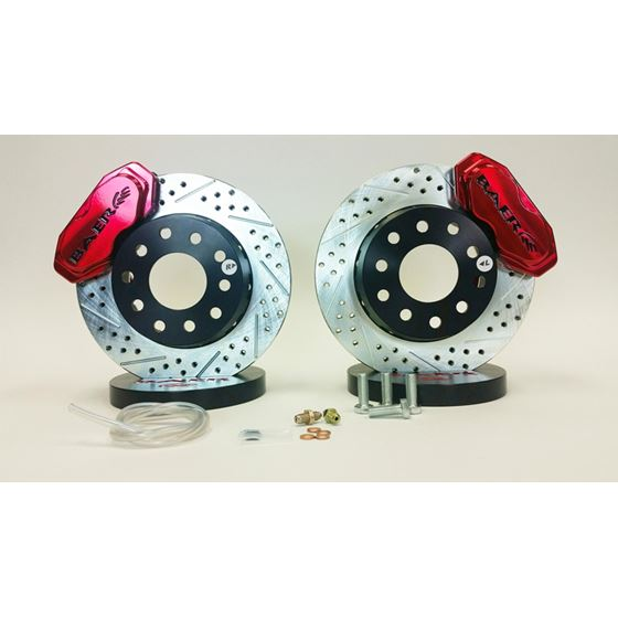 Baer Brake Systems 4301455FR Brake System 11 Inch Front SS4+ Deep Stage Drag Race Fire Red 10-14 Cam