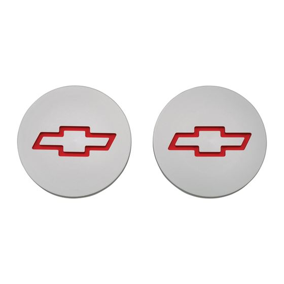 Chevrolet Performance Parts 141-233 Freeze Plug Inserts Silver w/Recessed Bowtie Emblem For SB Chevy