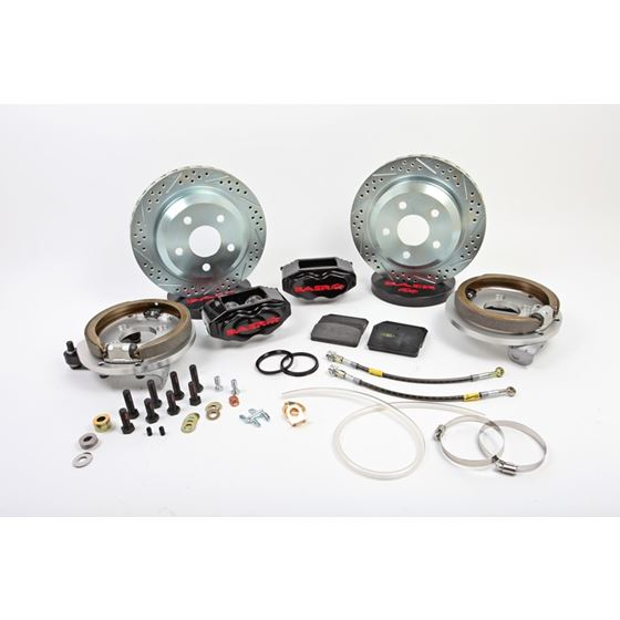 Baer Brake Systems 4262279B Brake System 12 Inch Rear SS4 with Park Brake Black 94-04 Mustang Solid