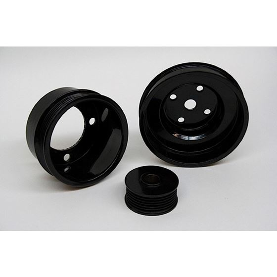 PRW 2630201 1987-1996 Small Block Ford 302/351 Windsor, Underdrive Pulley  Kit, Black