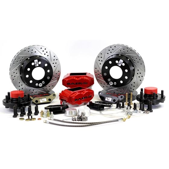 Brake System 11 Inch Front SS4+ Red 55-57 Chevy/He