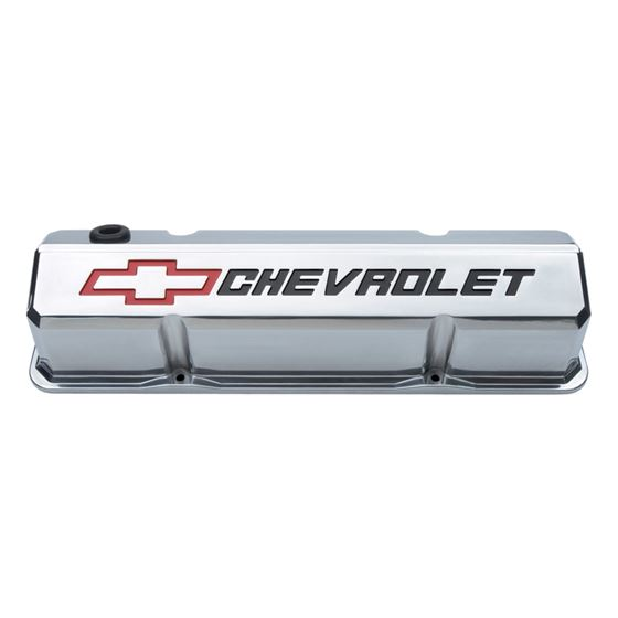 141-927 Valve Covers Slant Edge Tall Die Cast Poli