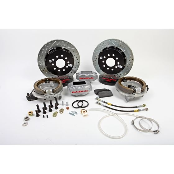 Baer Brake Systems 4262280S Brake System 13 Inch Rear SS4+ w/Park Brake Silver 94-04 Mustang Solid A