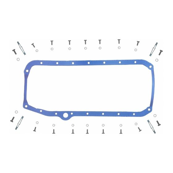 Fel-Pro OS34509T 1955-1974 Small Block Chevy Oil Pan Gasket, Thin Seal, Driver Side
