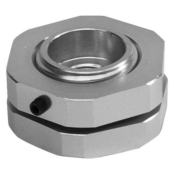 4120473 Valve Cover Fitting Adapter, Aluminum, 1.3750 in. ID, 3/8 in NPT, Barb, Silver Anodized