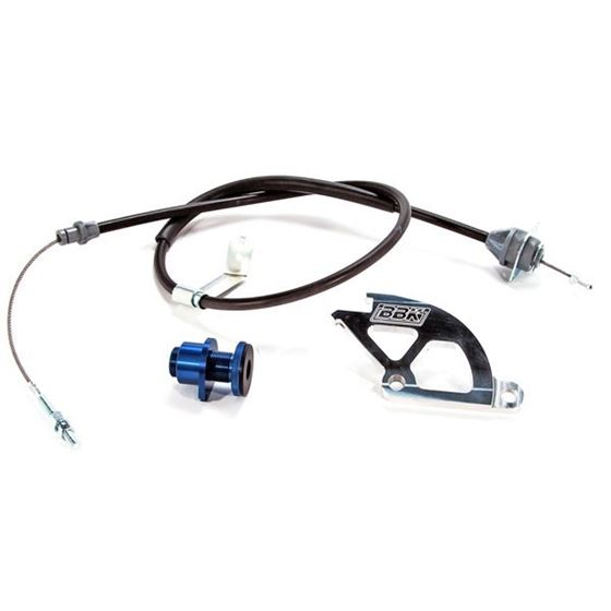 BBK Performance 15055 1979-1995 Ford Mustang Adjustable Clutch Cable and Quadrant Kit