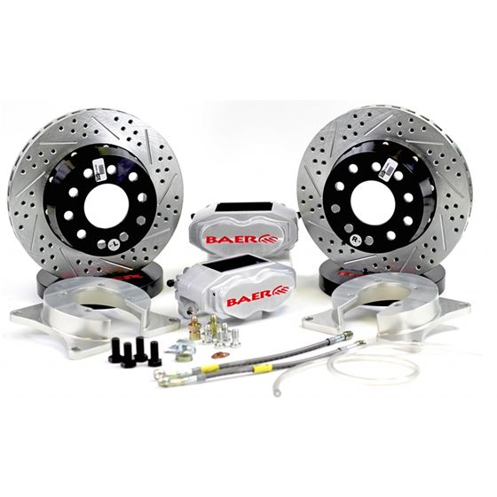 Baer Brake Systems 4262668C Brake System 11 Inch Rear SS4+ Deep Stage Clear Ford 8.8 Inch C Clip BAE