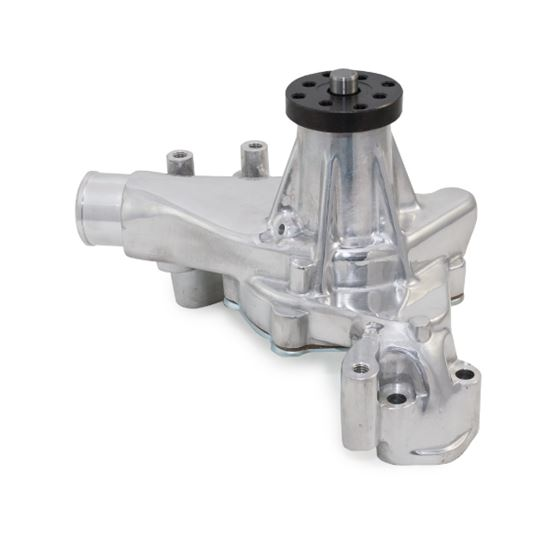 TSP Long Water Pump for Chevy Small Block Engines Polished Aluminum High Volume