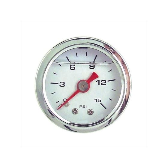 Big End Performance 15030 1 1/2 in. 0-15 PSI Liquid Filled Pressure Gauge White