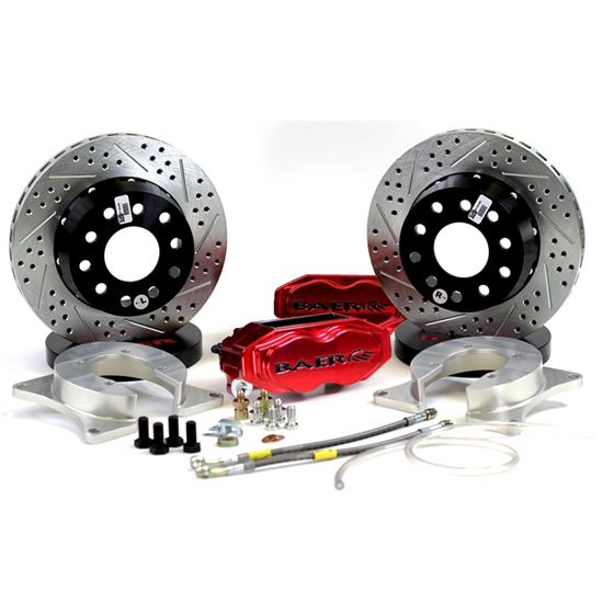 Baer Brake Systems 4262668FR Brake System 11 Inch Rear SS4+ Deep Stage Fire Red 8.8 Inch C Clip BAER