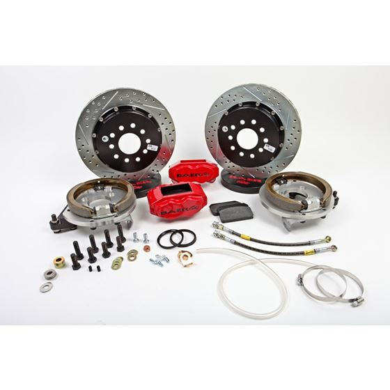 Baer Brake Systems 4262280R Brake System 13 Inch Rear SS4+ w/Park Brake Red 94-04 Mustang Solid Axle
