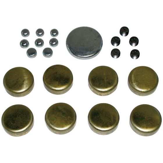 66550 Brass Freeze Plug Kit For Small Block Chevy