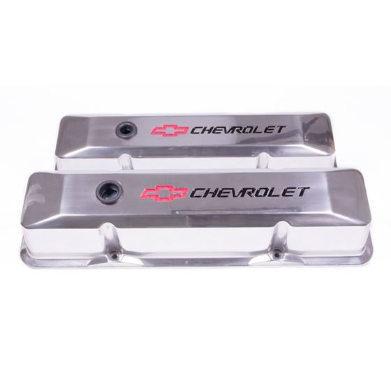 Chevrolet Performance Parts 141-108 Small Block Chevy Valve Covers Tall Style Die Cast Polished with