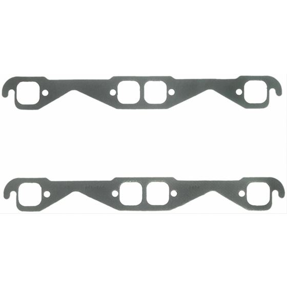 Fel-Pro 1404 Small Block Chevy Performance Header Gasket SetExhaust  Gaskets, Header, Steel Core Laminate, Square Port, Chevy, Small Block, Set
