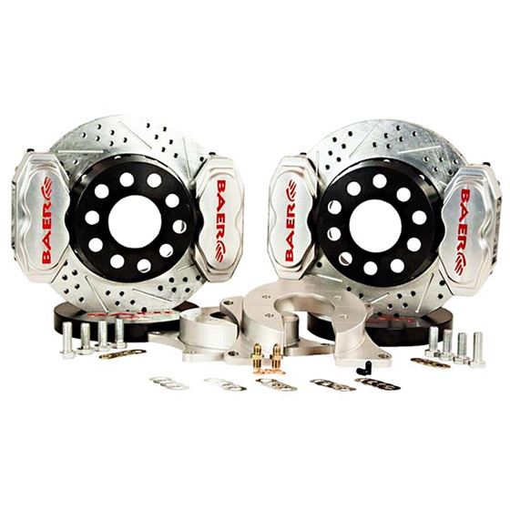 Baer Brake Systems 4262266C Brake System 11 Inch Rear SS4+ Deep Stage 4-Caliper Clear Ford 9 Inch To