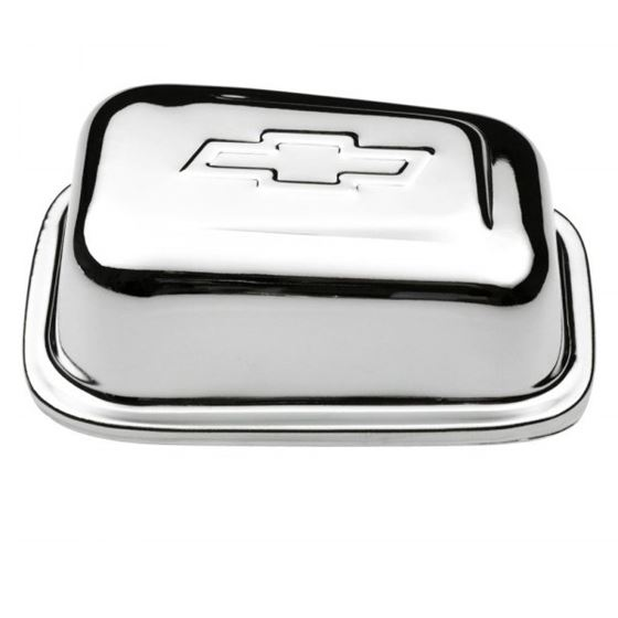 141-619 Valve Cover Breather Rectangle w/Bowtie Push-In 1.22 Inch Hole Chrome