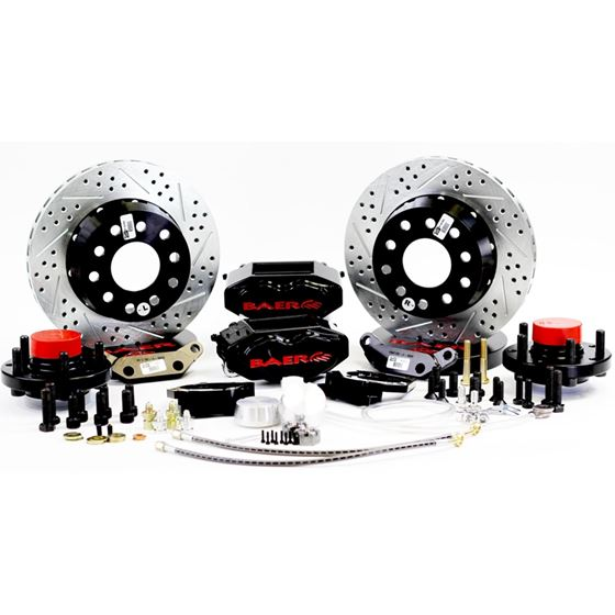 Baer Brake Systems 4301464B Brake System 11 Inch Front SS4+ Black 58-70 GM Full Size Car Requires CP