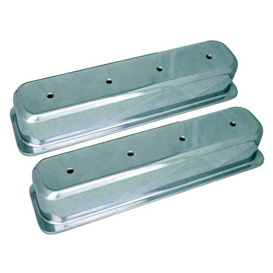 Big End Performance 70032 3 11/16 in. Tall Polished Valve Covers