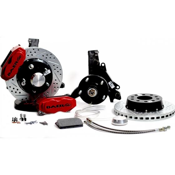 Baer Brake Systems 4301460R Brake System 11 Inch Front SS4+ Red 78-87 GM G Body Modified Drop Spindl