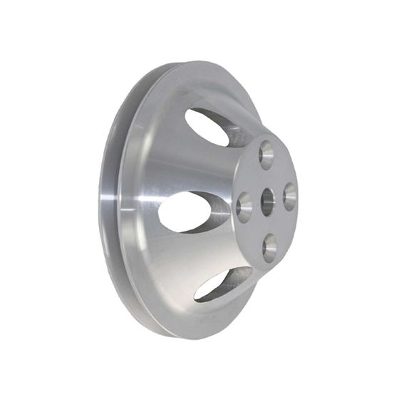 TSP SP8854 SB Chevy Single Groove Aluminum Water Pump Pulley, Long, Machined