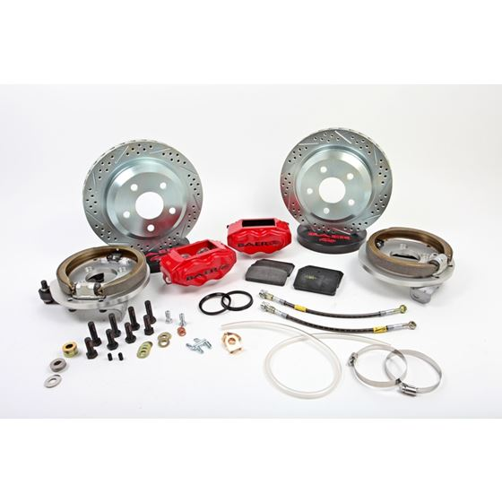 Baer Brake Systems 4262279R Brake System 12 Inch Rear SS4 with Park Brake Red 94-04 Mustang Solid Ax