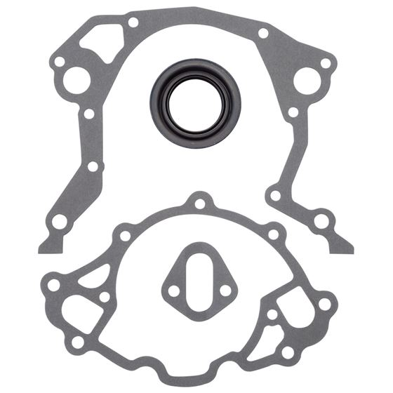 Edelbrock 6991 Small Block Ford Timing Cover Gasket Kit, Composite