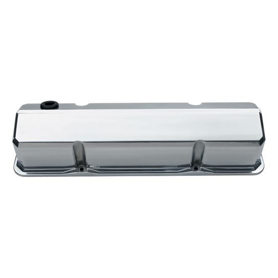 Chevrolet Performance Parts 141-926 Valve Covers Slant Edge Tall Die Cast Polished Without Logos SB