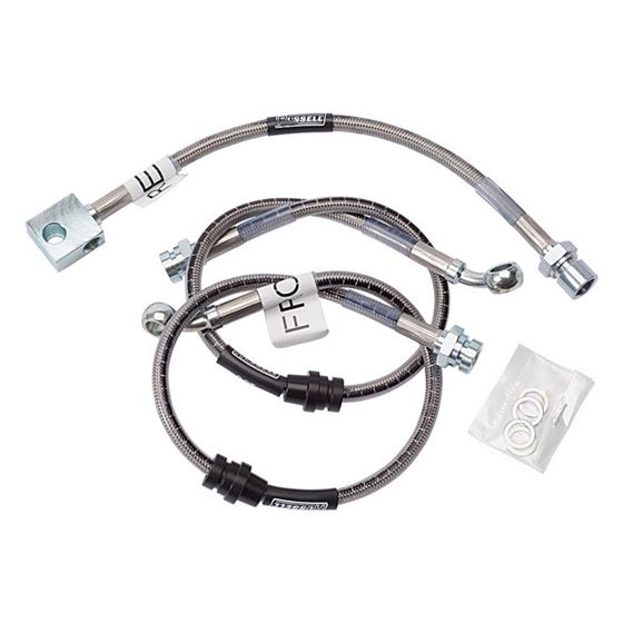 Russell 692050 1984-1988 F-Body Street Legal, Braided Brake Line Kit Disc/Drum